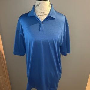Bright Blue Nike Dri-Fit Golf Polo Size Large